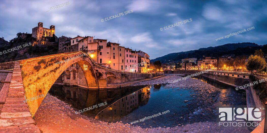 Stock Photo: Dolceacqua, Ventimiglia, Liguria, province of Imperia, Italy, Europe.