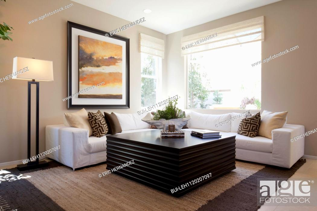 Floor Lamp By Sectional Sofa With Large