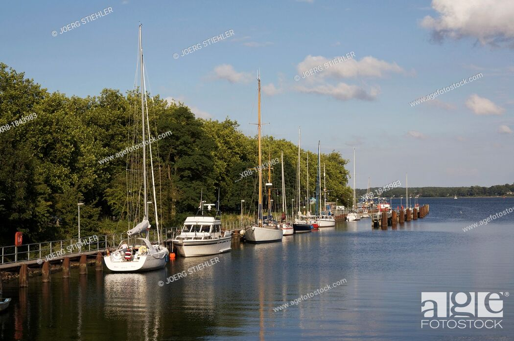 Stock Photo: Habour Kiel-Holtenau, Germany, Baltic Sea, Fjord of Kiel.