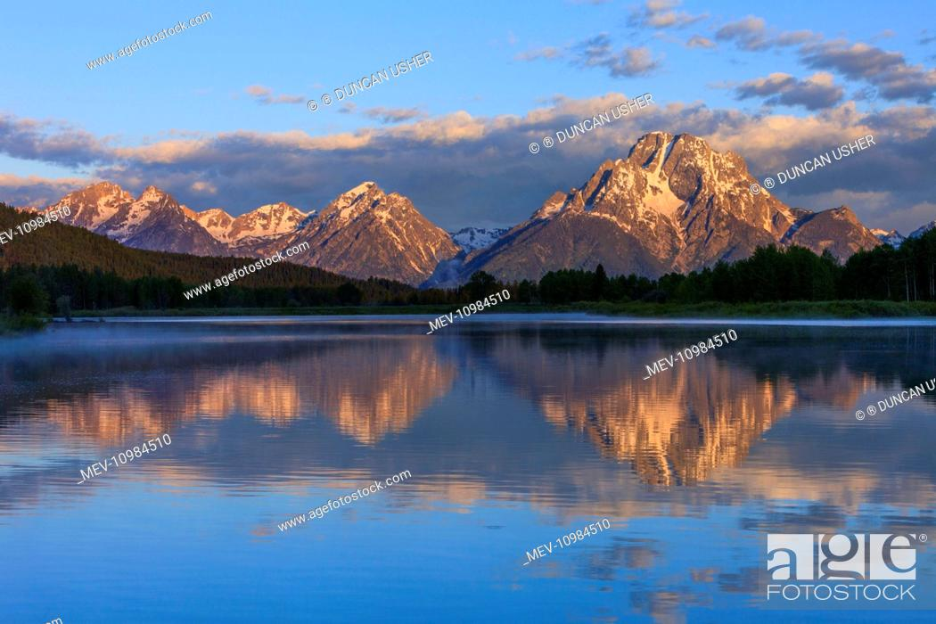 Imagen: Mount Moran - and Oxbow Bend - Snake River Grand Teton National Park, Wyoming, USA.