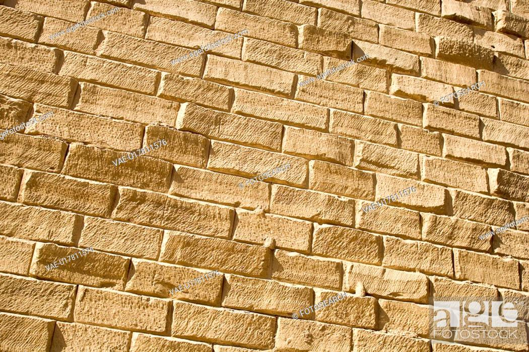 Stock Photo: Brick, Brick Wall, Close-Up, Layout.
