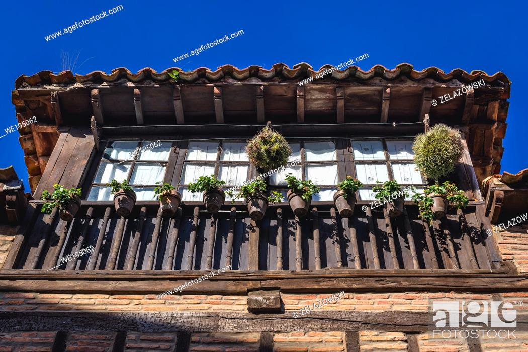 Stock Photo: House in Santillana del Mar historic town located in Cantabria autonomous community in northern Spain.