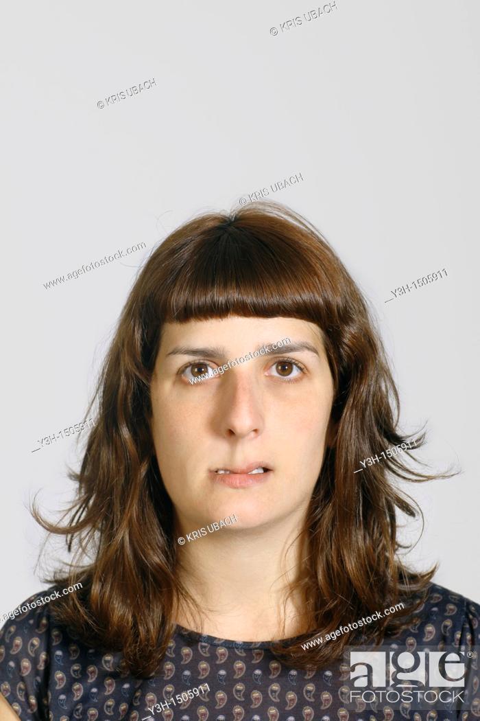 Stock Photo: Studio shot of young woman.