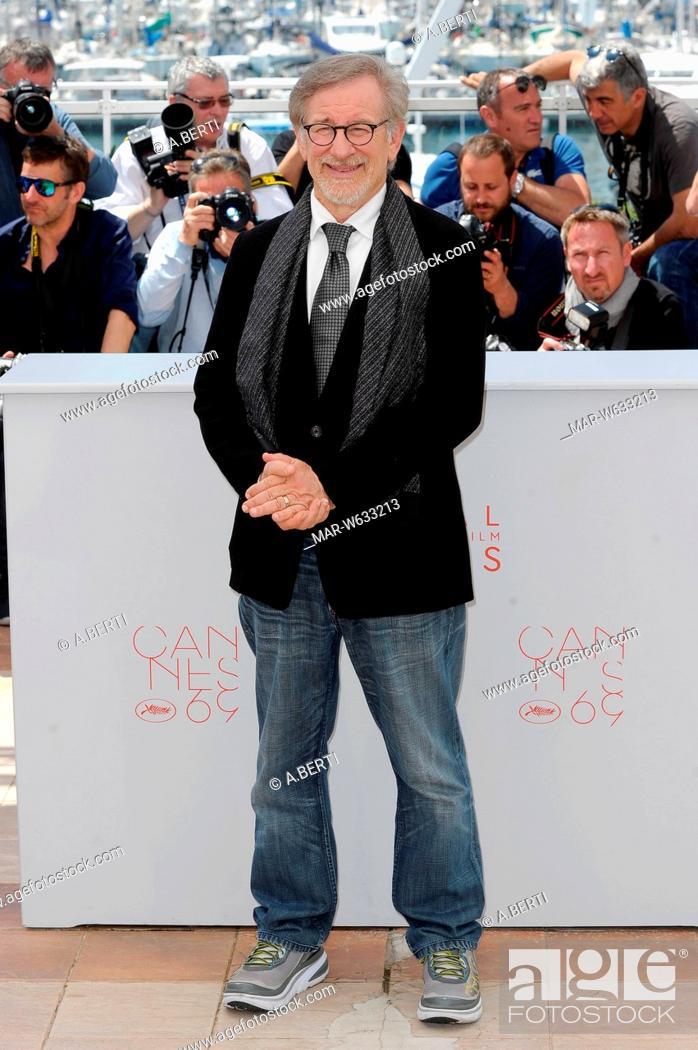 Steven Spielberg 69 Cannes Film Festival 2016 Stock Photo Picture