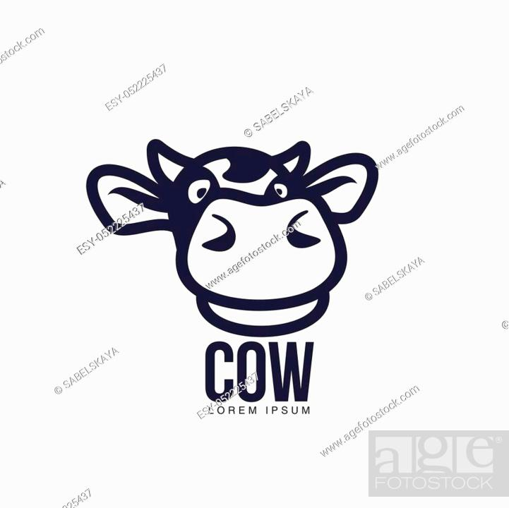funny cow head logo template cartoon vector illustration on white background stock vector vector and low budget royalty free image pic esy 052225437 agefotostock https www agefotostock com age en stock images low budget royalty free esy 052225437