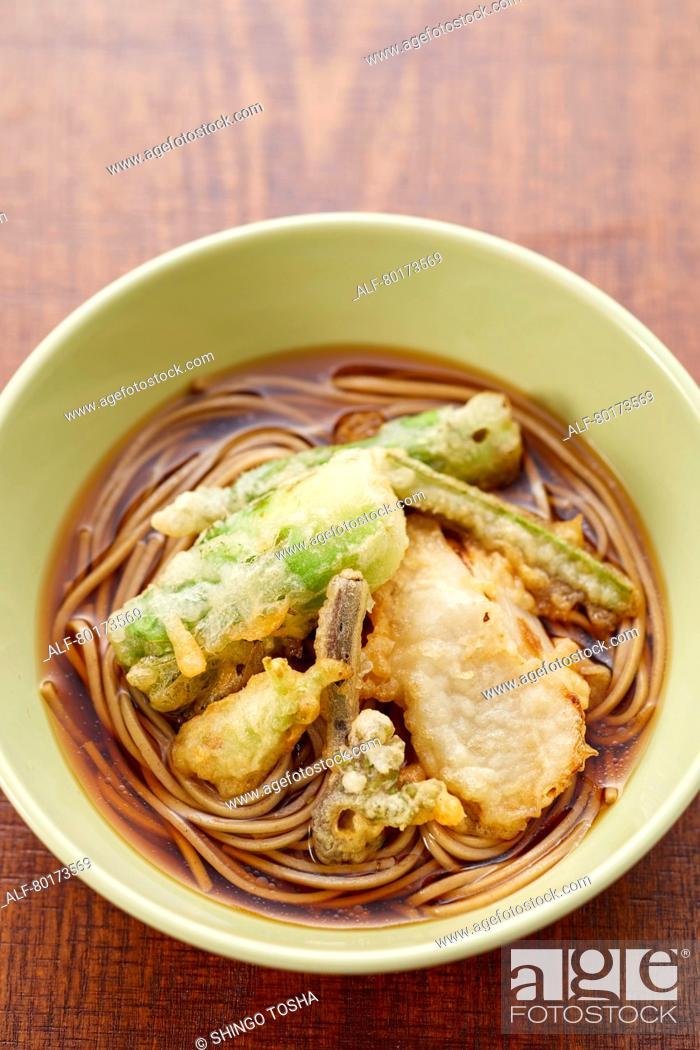 Stock Photo: Soba noodles.