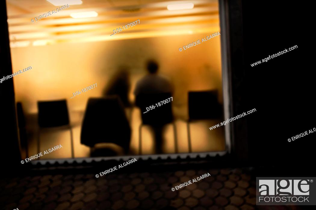 Stock Photo: couple waiting in a waiting room.