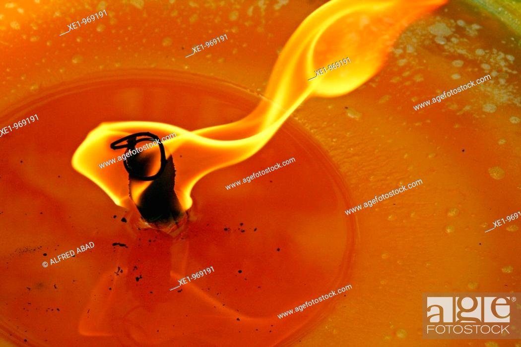 Stock Photo: Candle flame.