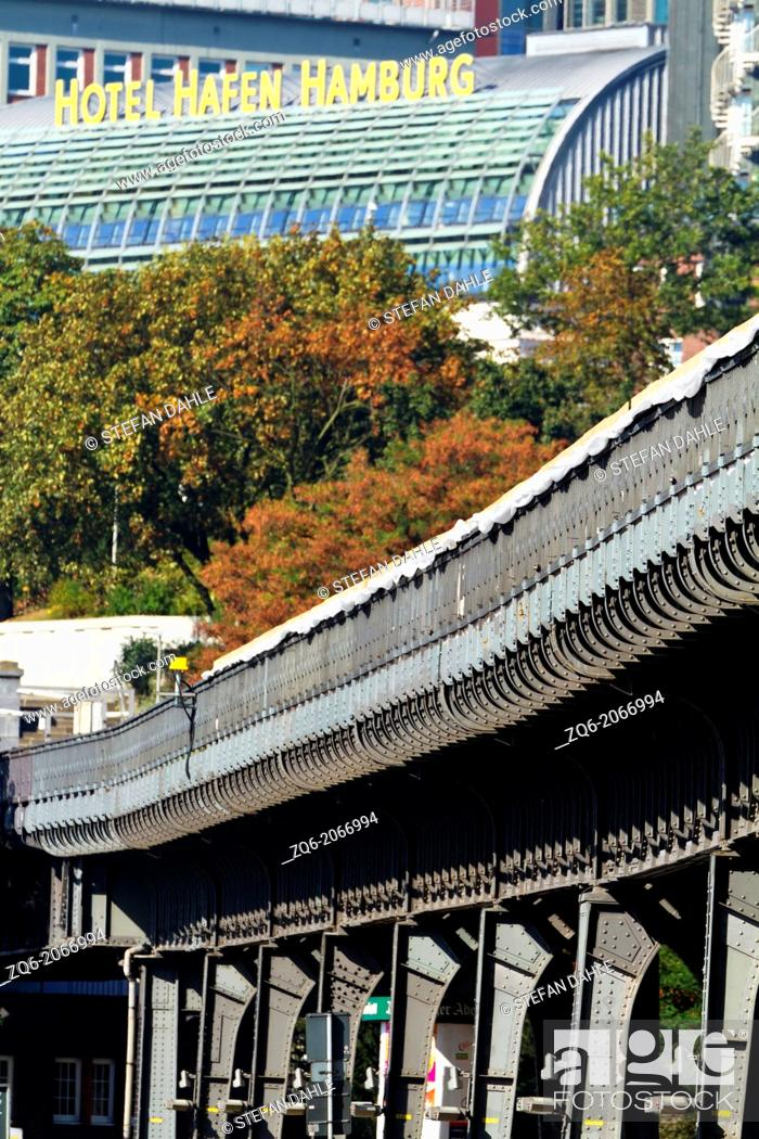 Stock Photo: Train Path of the Subway in Hamburg, Germany.