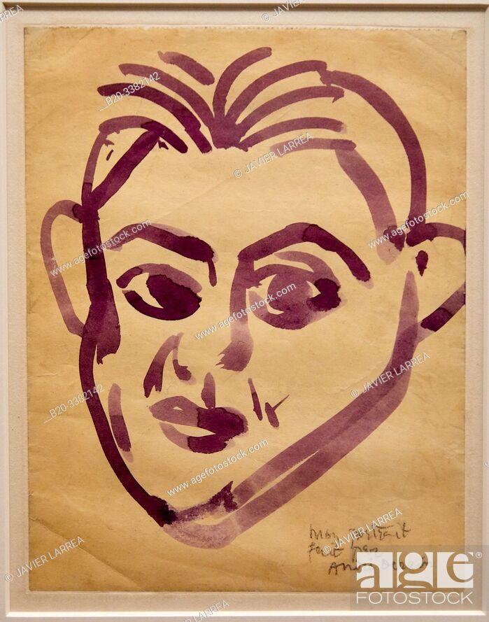 """Stock Photo: """"Portrait de Picasso"""", 1908, André Derain, Picasso Museum, Paris, France, Europe."""