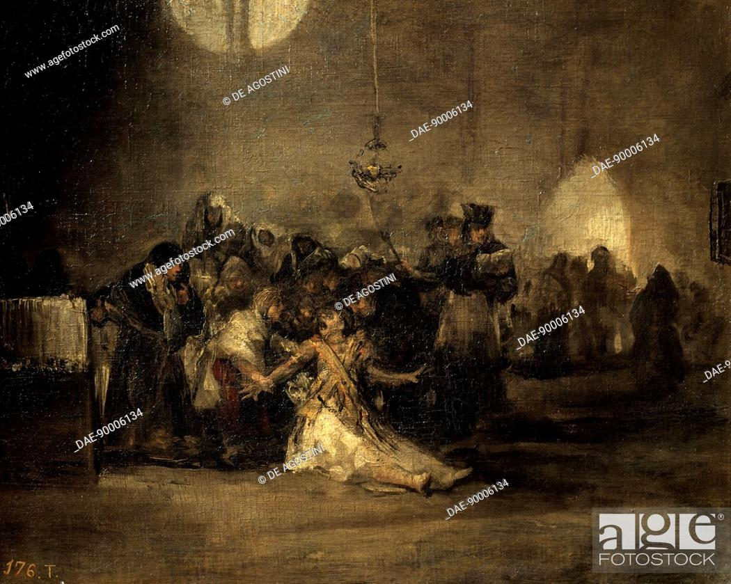 The Exorcism By Francisco De Goya 1746 1828 Mural Painting From