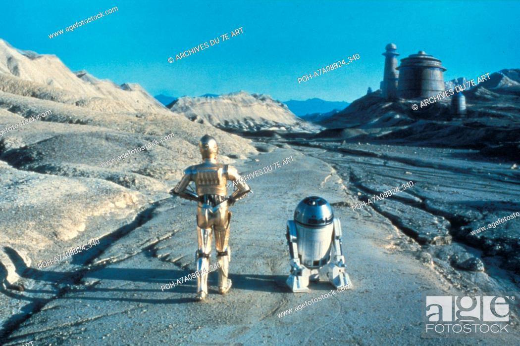 Stock Photo: Star Wars: Episode VI, Return of the Jedi  Year: 1983 USA Director: Richard Marquand Kenny Baker, Anthony Daniels. It is forbidden to reproduce the photograph.
