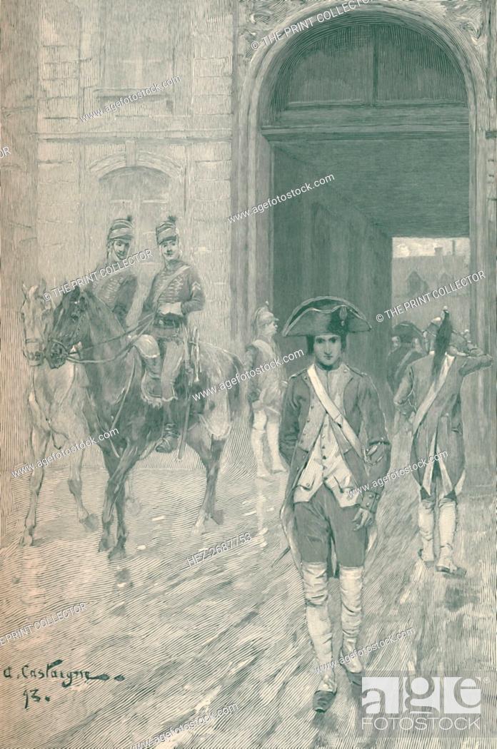 Stock Photo: 'Bonaparte at the Military School, Paris, 1784', (1896). Artist: M Haider.