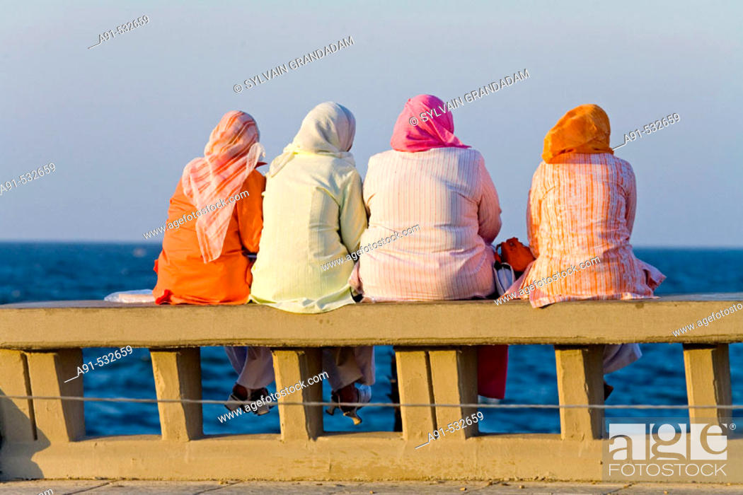 Stock Photo: Along the Corniche. City of Alexandria. Egypt.