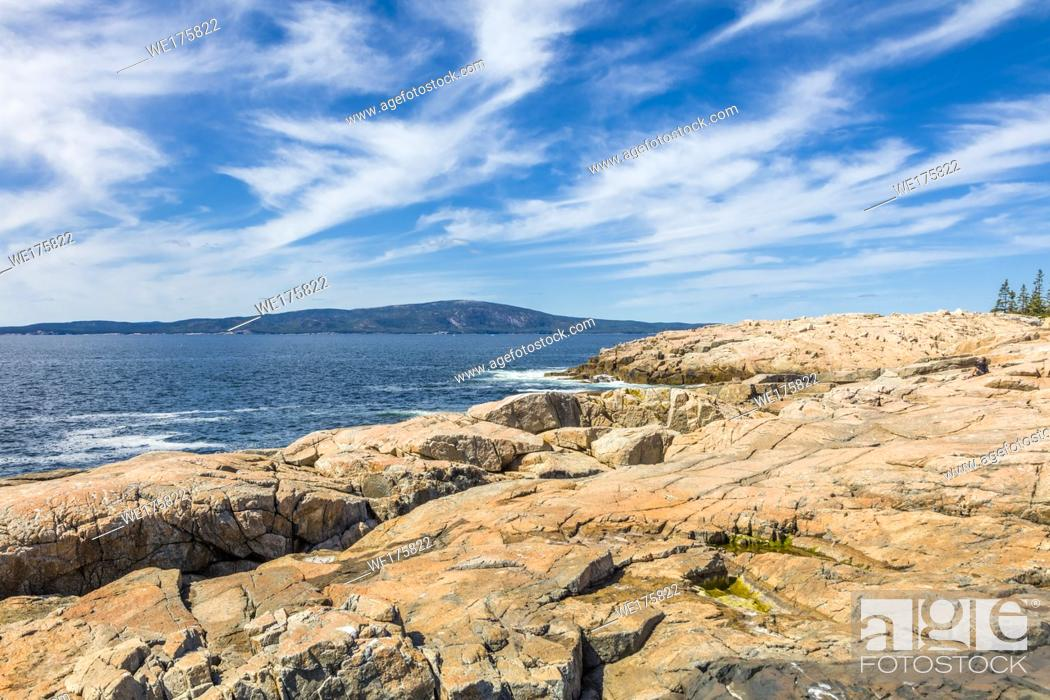 Imagen: Schoodic Peninsula on the Atlantic Ocean in Acadia National Park on the coast of Maine in the United States.