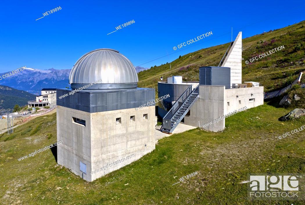 Stock Photo: Francois-Xavier Bagnoud Observatory, Saint-Luc, Valais, Switzerland.