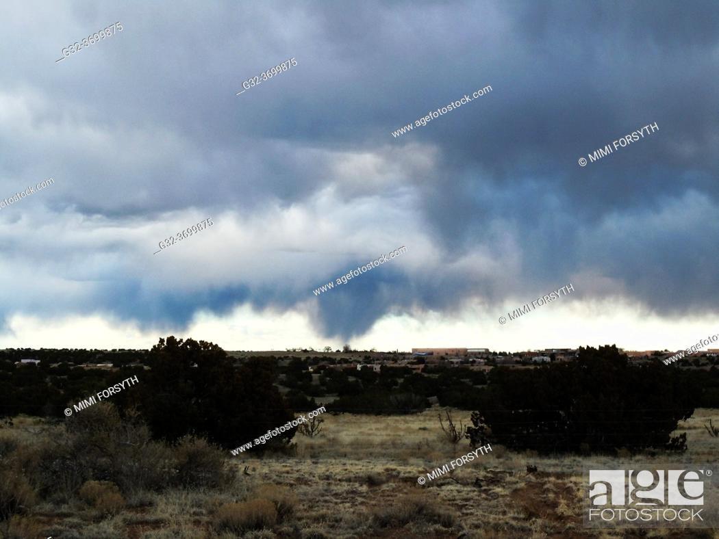 Stock Photo: rain storm, New Mexico.