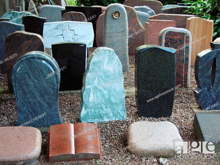 Stock Photo: Tombstones without names, Kiel, Germany.