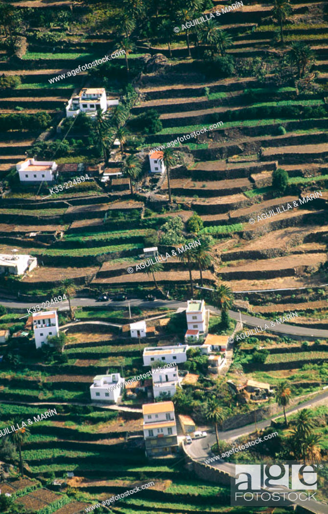 Stock Photo: View of the countryside in La Gomera island. Canary Islands. Spain.