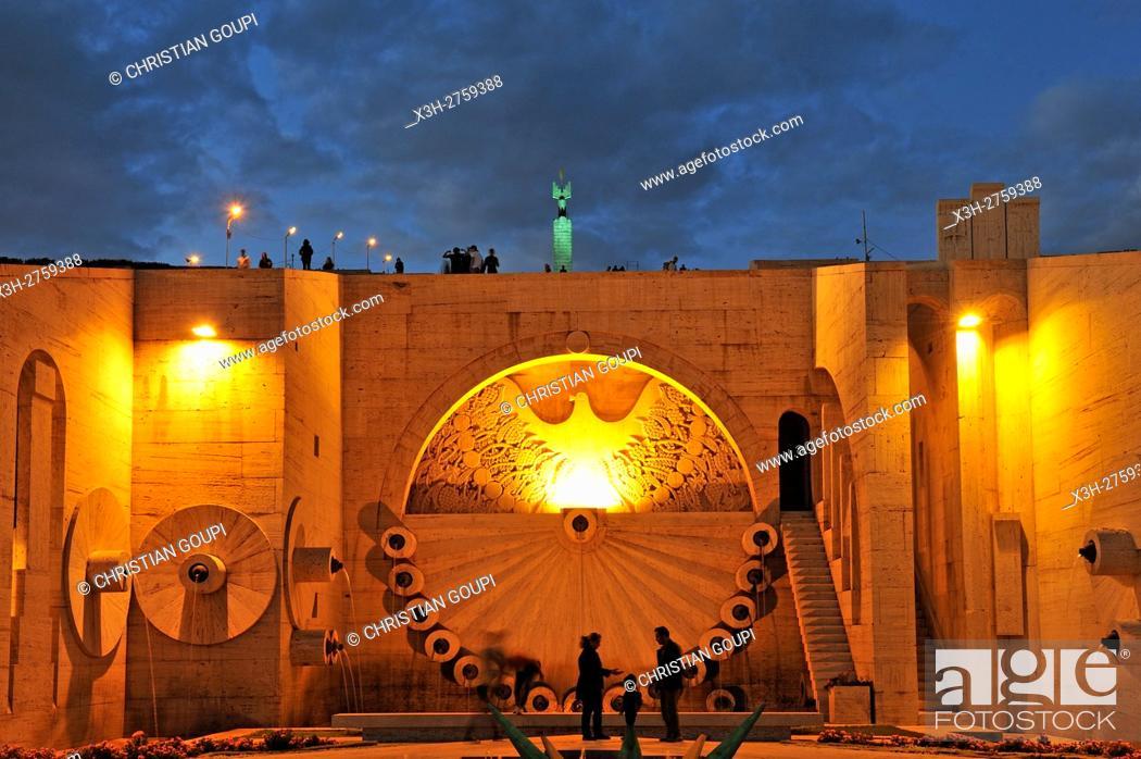 Stock Photo: the monumental staiway and garden Cascade, Yerevan, Armenia, Eurasia.