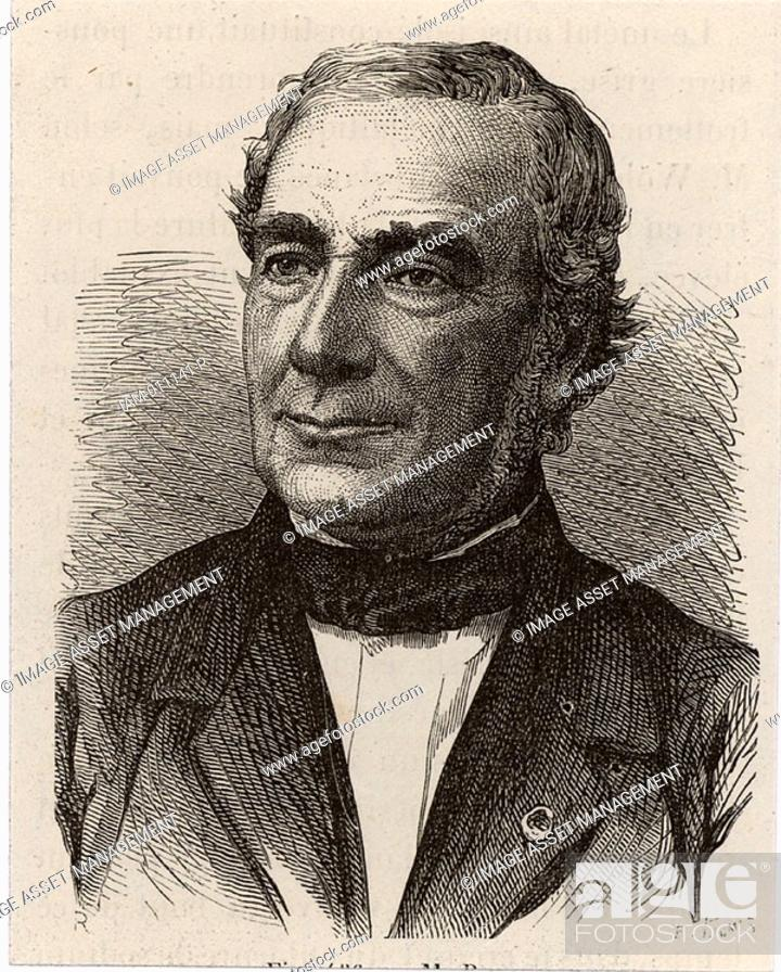 Stock Photo: Antoine Alexandre Brutus Bussy 1794-1882 French chemist, physician and pharmacist, born at Marseilles  In 1828, independently of Wohler.