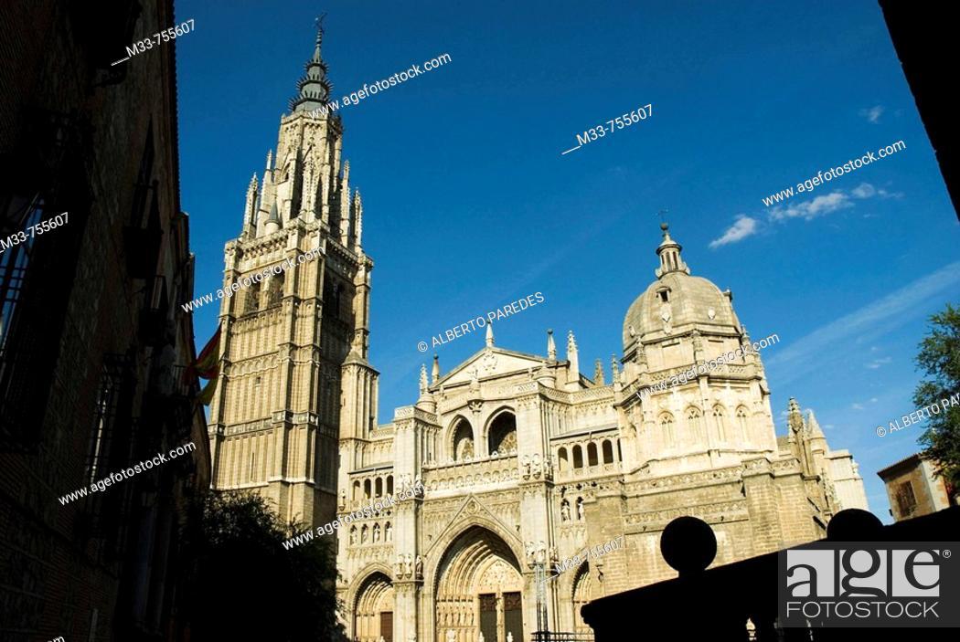 Stock Photo: Cathedral, Toledo. Castilla-La Mancha, Spain.