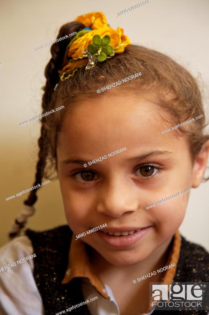 Stock Photo: A child at the kindergarten at Gamaeya Khairiya-li-Ahaly, an NGO in Al Zahiria neighbourhood in Alexandria, Egypt May 30, 2007.