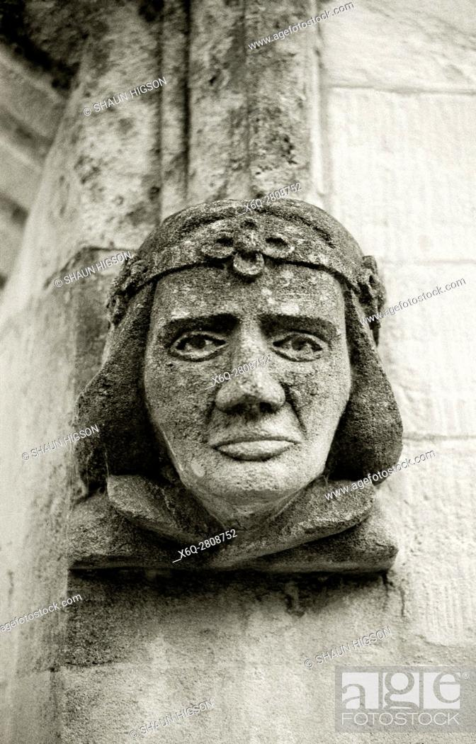 Imagen: Gargoyle on a building in Bradford on Avon in Wiltshire in England in Great Britain in the United Kingdom UK Europe.
