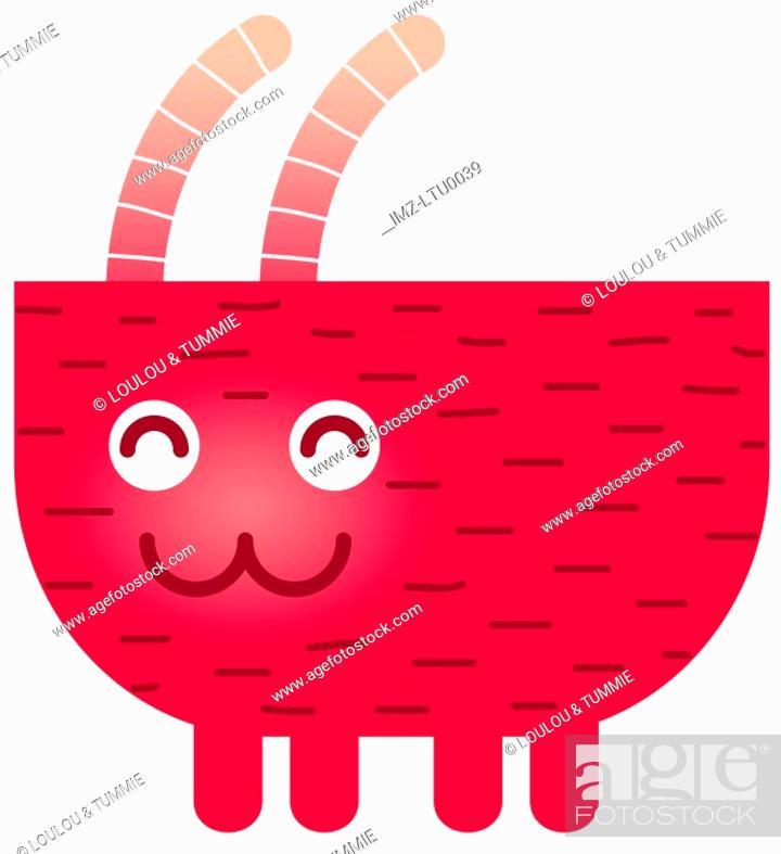 Stock Photo: A cute Capricorn goat character.