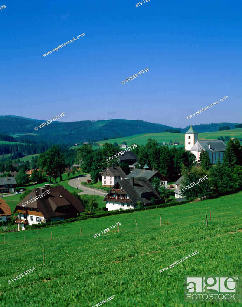 Stock Photo: Black forest, Country, Countryside, Germany, Europe, Grassy, Green, Hills, Holiday, Landmark, Region, Tourism, Travel, Vacation,.