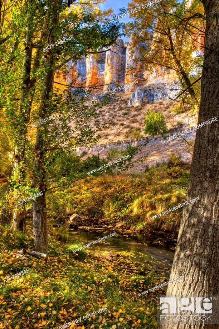 Stock Photo: Riaza River. Hoces del Riaza Natural Park. Maderuelo. Segovia province. Castilla y Leon. Spain.