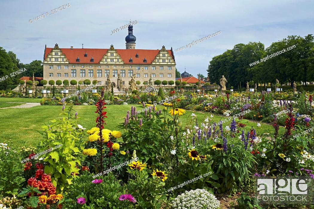 Stock Photo: Weikersheim Castle, Main-Tauber-District, Baden-Wuerttemberg, Germany.