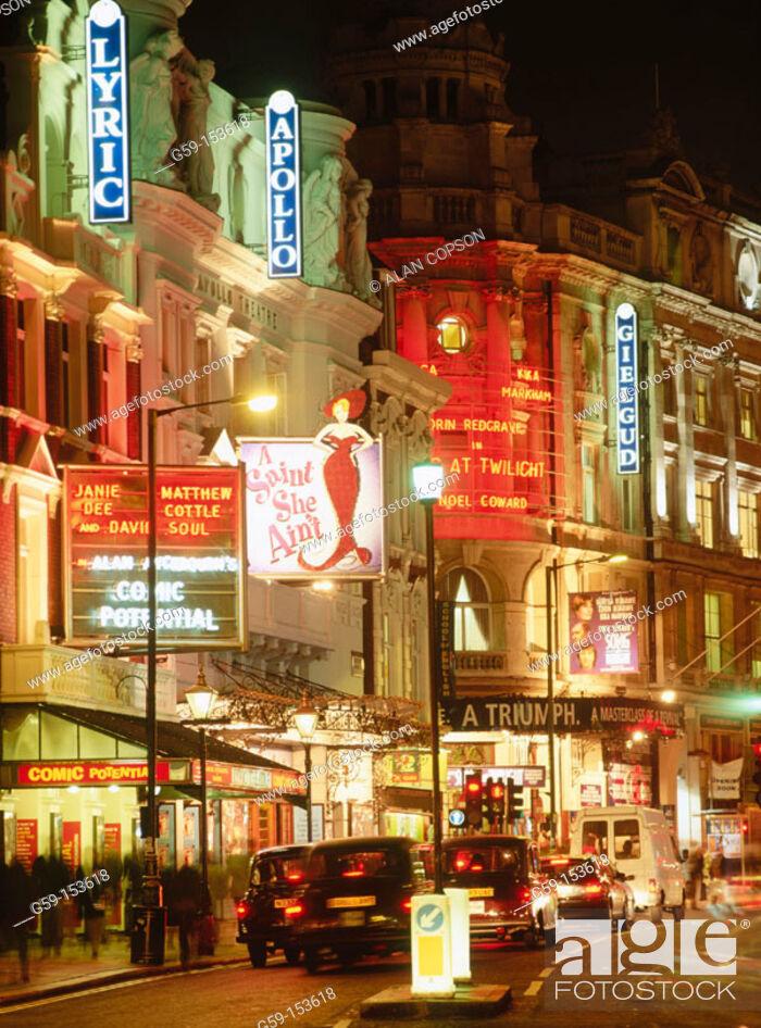 Stock Photo: 'Theatreland', Shaftesbury Avenue. London. England.