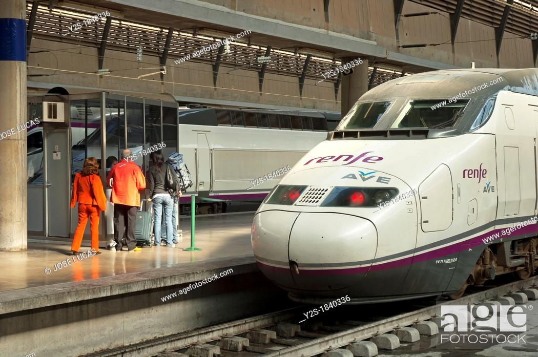 Ave High Speed Train Railway Station Sevilla Santa Justa Seville