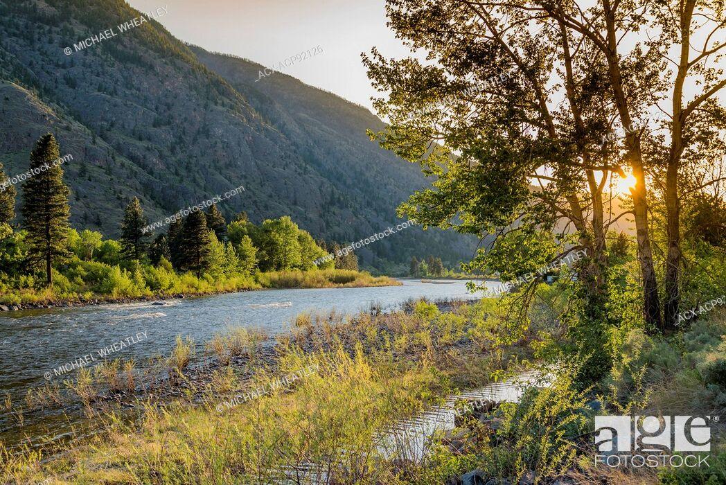 Stock Photo: Similkameen River, British Columbia, Canada.