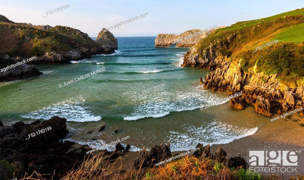 Stock Photo: Berellin beach, Prellezo, Cantabria, Bay of Biscay, Spain, Europe.