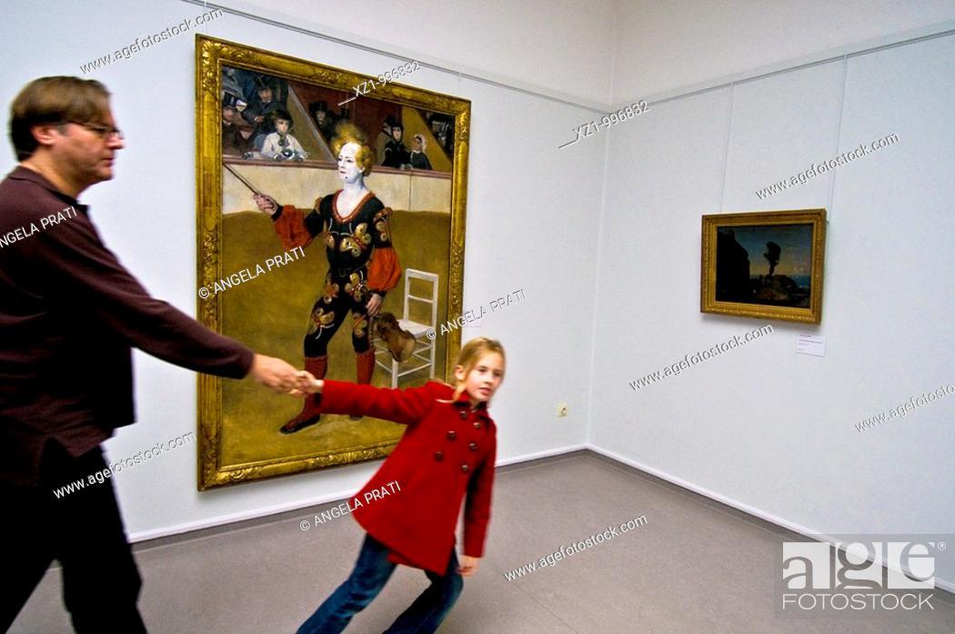 Stock Photo: Holland, in the neighbourhood Arnhem, round about Otterlo, Kroller Muller Museum, Renoir, The Joker.