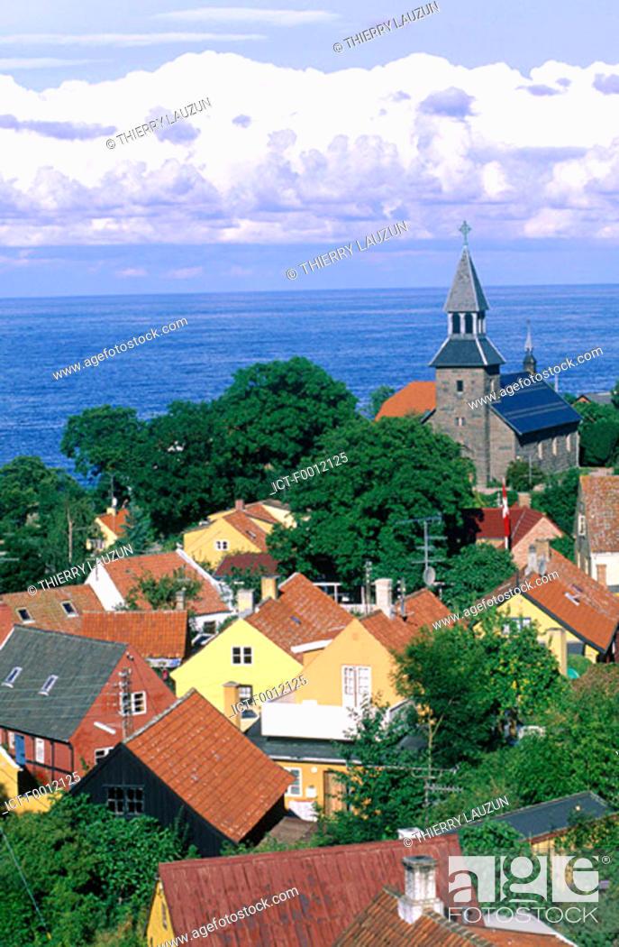 Stock Photo: Denmark, Bornholm, Gudhjem.
