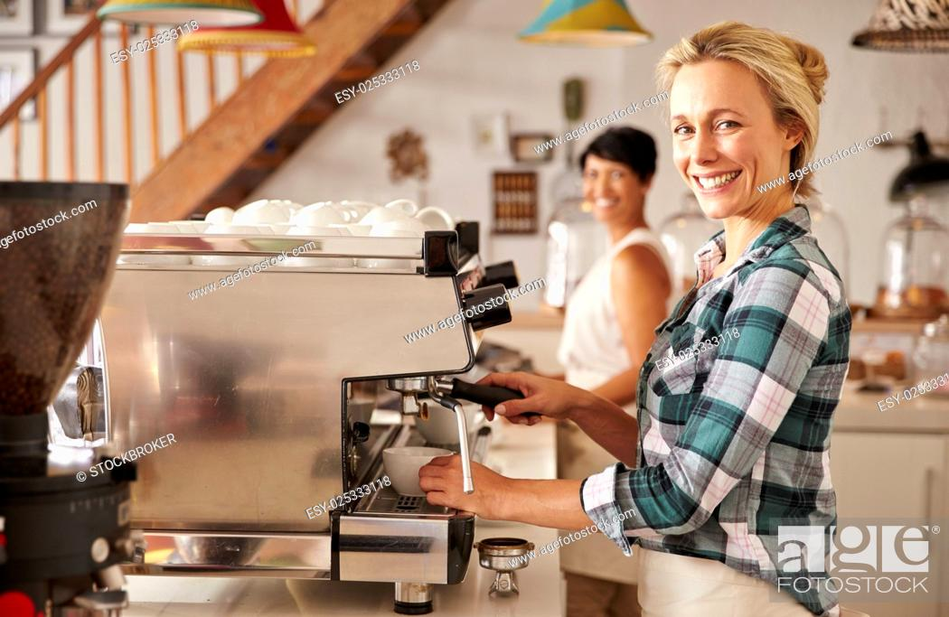 Stock Photo: Cafe staff at work.