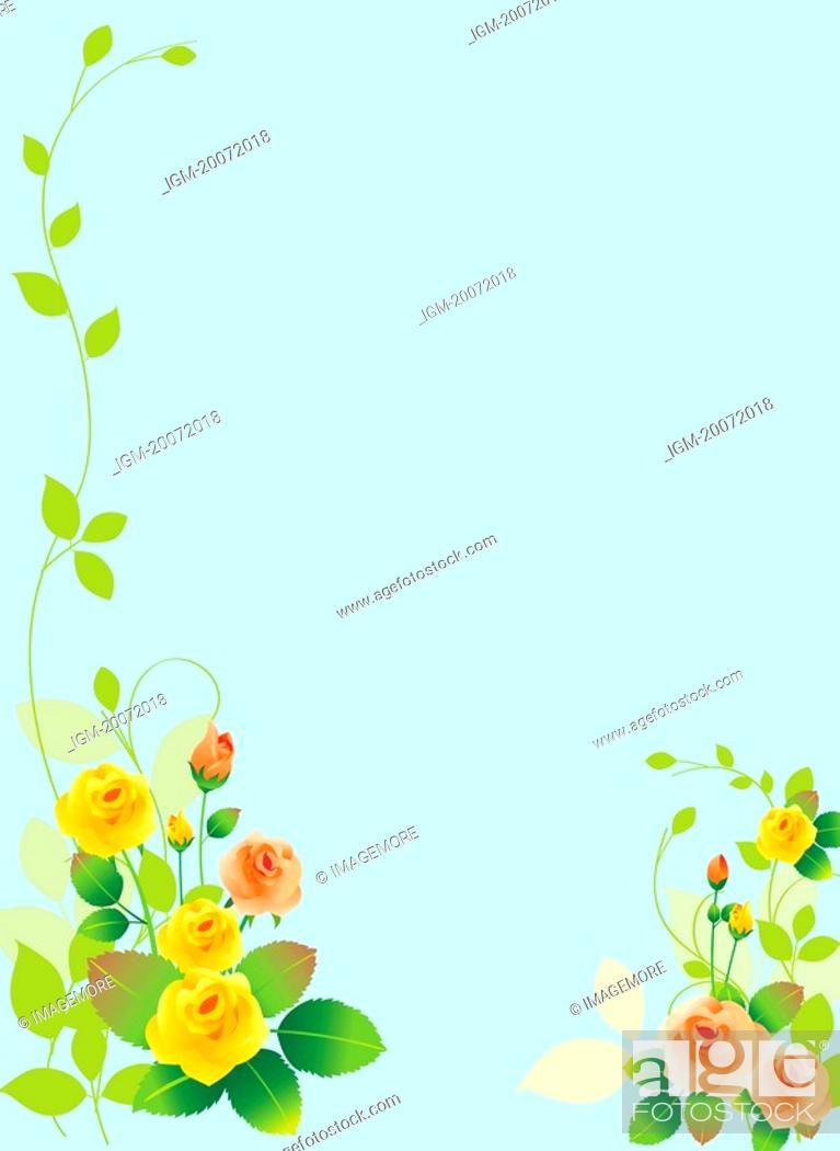 Stock Photo: Illustration and painting of floral pattern.