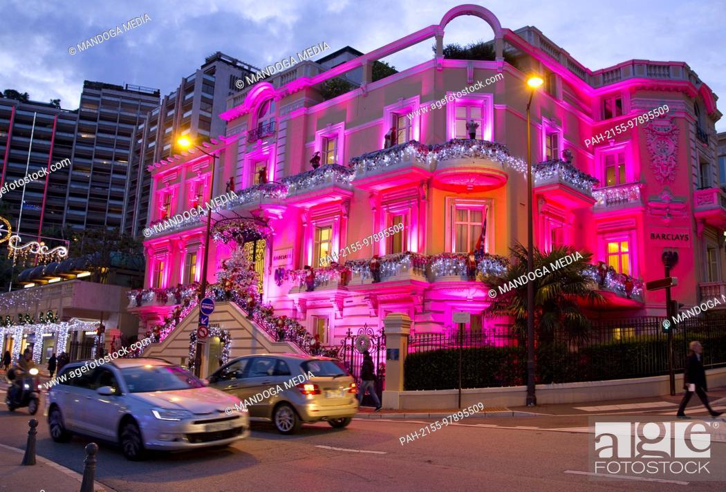 Stock Photo: Monte Carlo, Monaco - December 12, 2017: Christmas Atmosphere in Monaco, Noel a Monaco | usage worldwide. - Monte Carlo/Monaco.