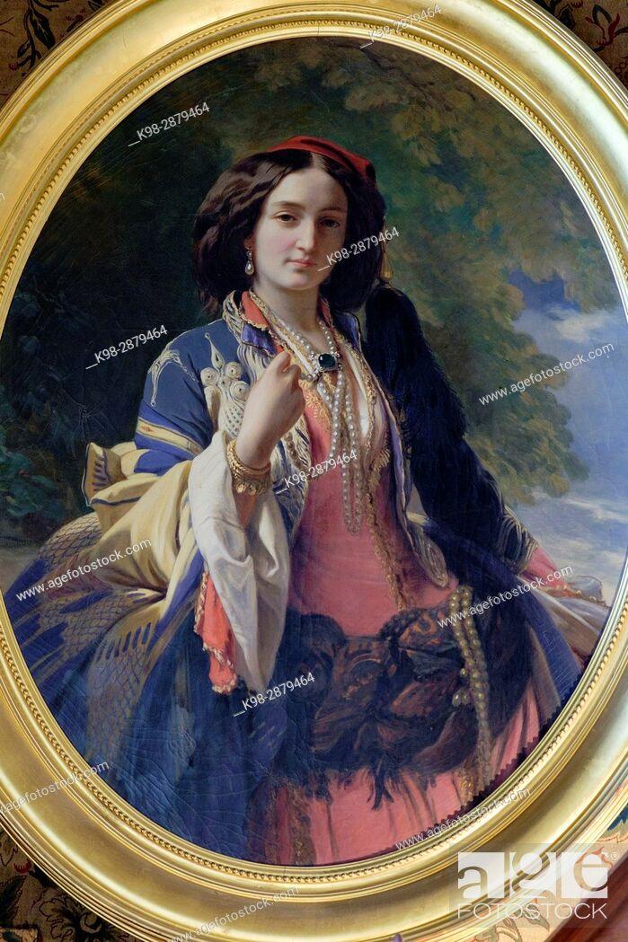 Imagen: Catherine Branicki in Turkish dress, Francisco Xavier Winterhalter, Count Branicki 's castle, Montrésor, Indre-et-Loire department. France.