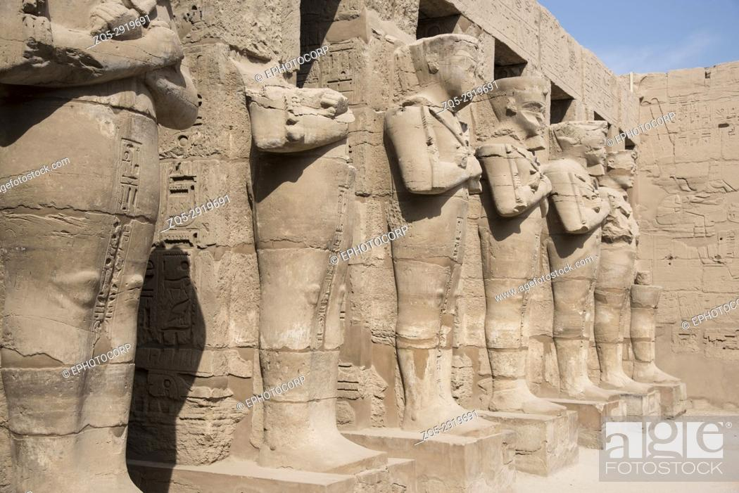 Stock Photo: Beautifully carved idols in Ramses 3 temple, Situated near Karnak Temple, Karnak, Luxor, Egypt.
