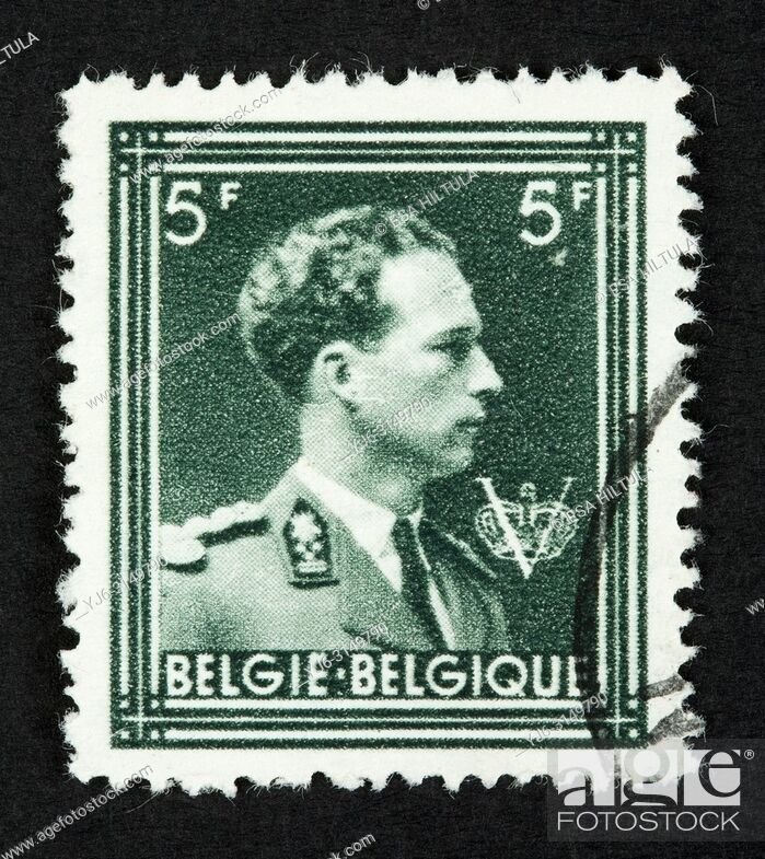 Stock Photo: Belgian postage stamp.