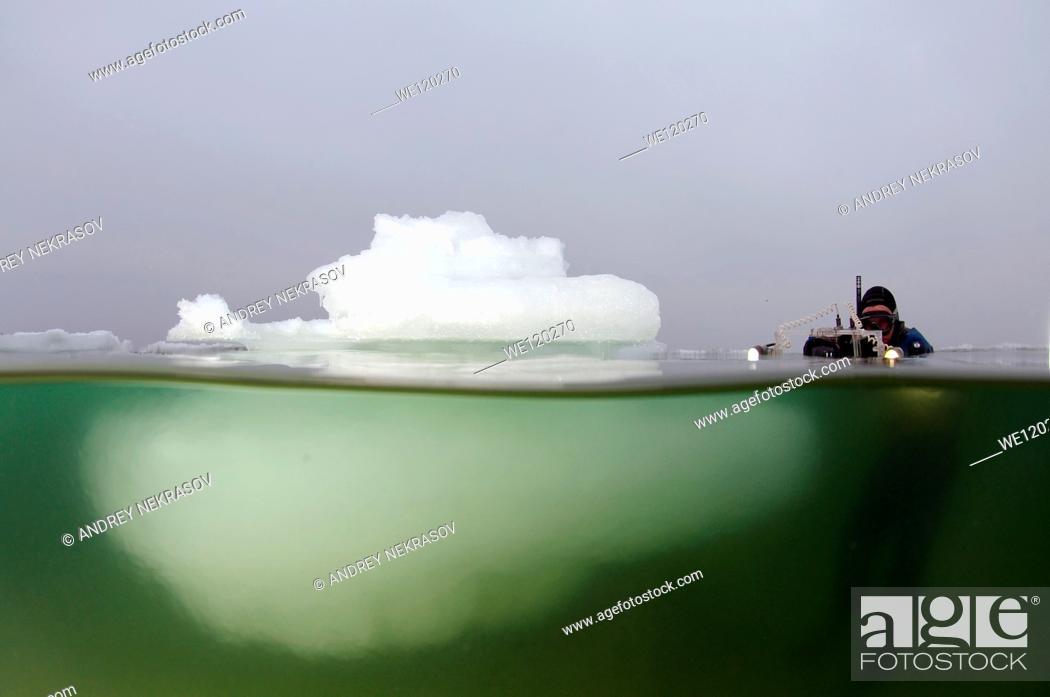 Stock Photo: Iceberg in the Black Sea, which was last frozen in 1977, Odessa, Ukraine, Eastern Europe.
