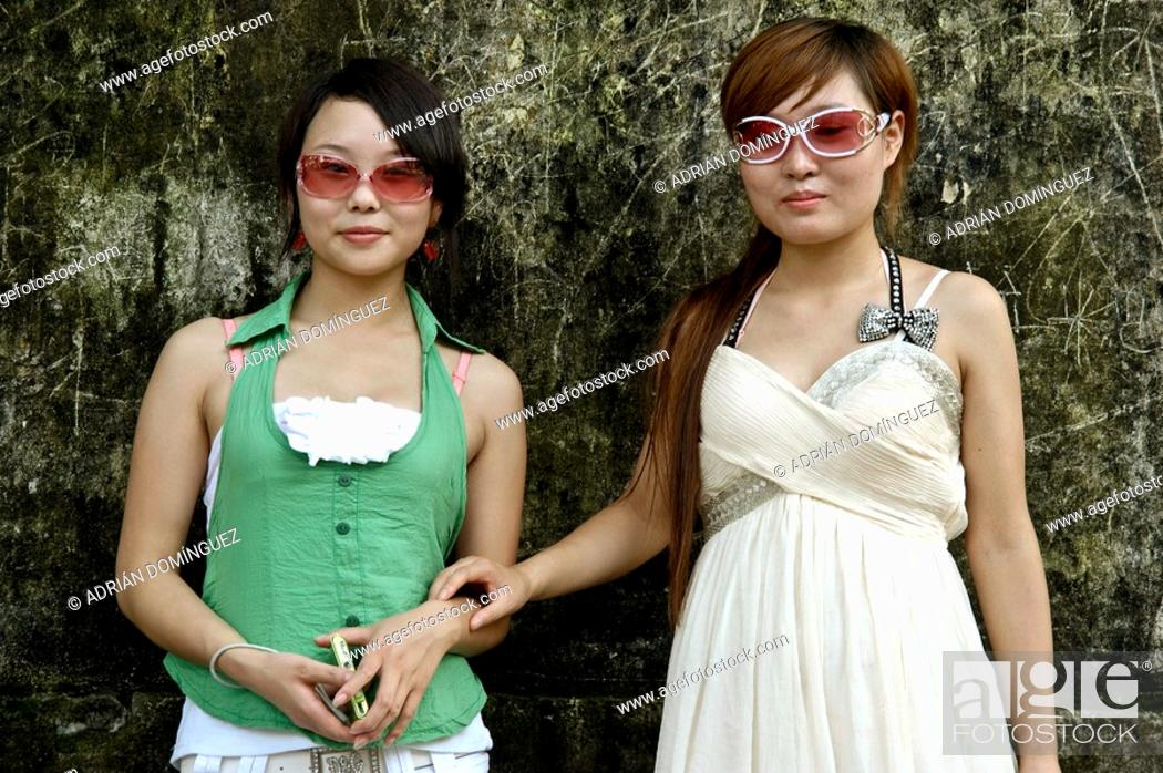 Stock Photo: Chinese girls pousing.