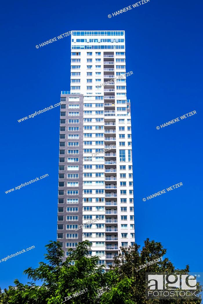 Stock Photo: UP-site skyscraper, Brussels, Belgium, Europe.