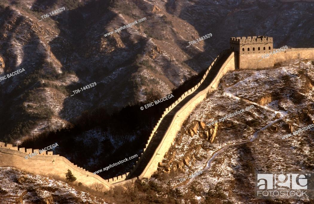 Stock Photo: Great Wall of China in winter.