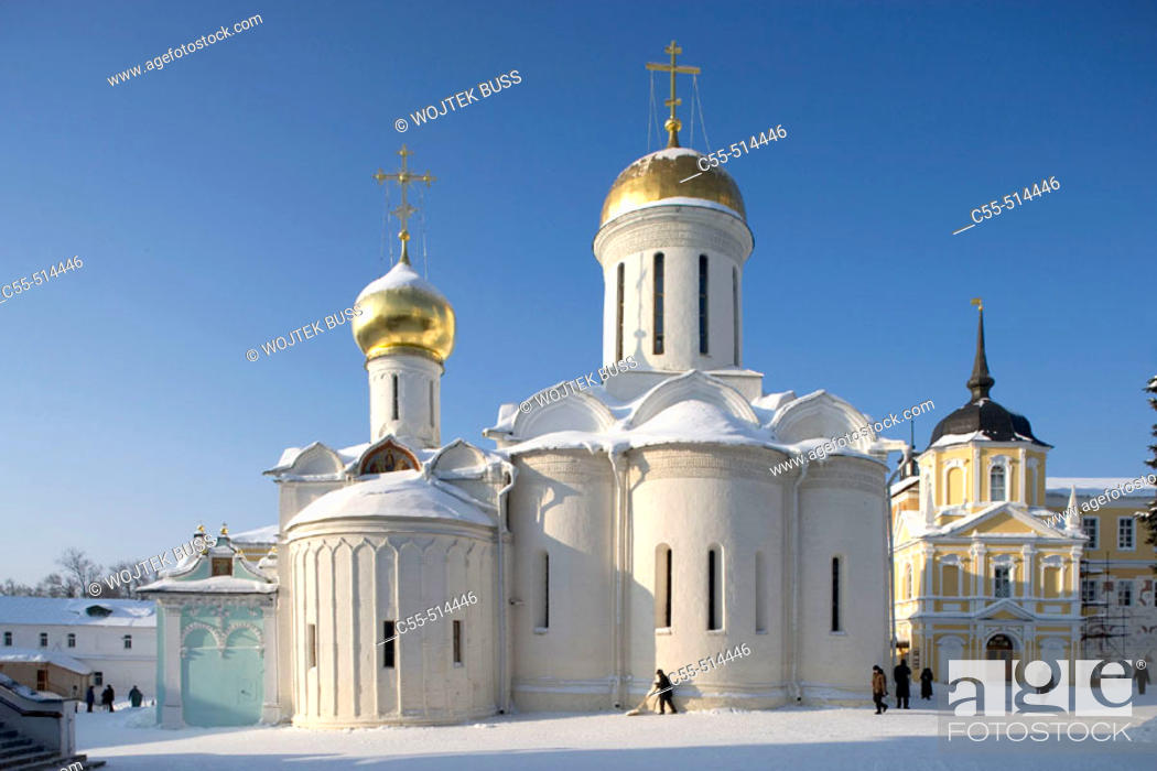Stock Photo: Cathedral of the Holy Trinity, 1422. Holy Trinity-St. Sergius Lavra (monastery), Sergiyev Posad. Golden Ring, Russia.