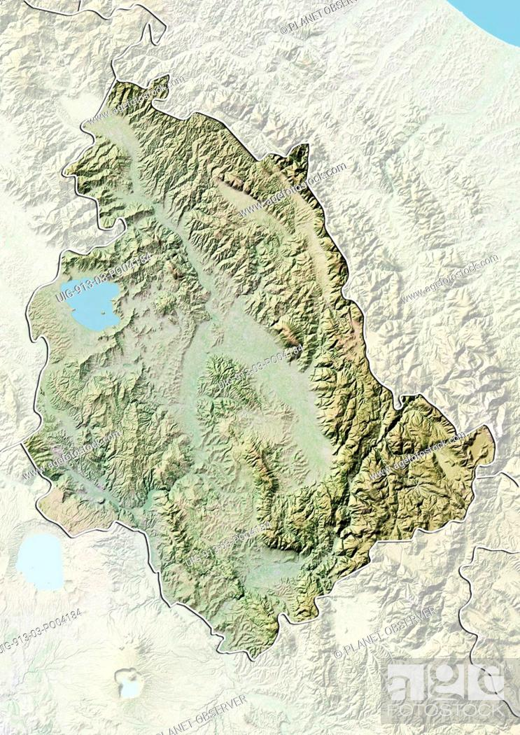 Relief Map Of The Region Of Umbria Italy This Image Was Compiled